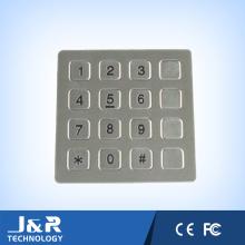 Clavier à clavier en acier inoxydable plat, 16 touches Clavier téléphonique, clavier téléphonique public