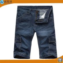 Calções de brim curtos ocasionais de Bermuda Jean das calças curtas dos homens da forma do OEM