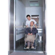 Hospital sala de máquinas ascensor cama con puerta opuesta