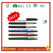 Liquid Ink Pen with Rubber Finish Barrel