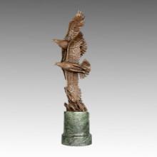 Tier-Statue Double Eagle Flying Bronze Skulptur, Juno Tpal-322