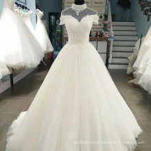 Hing Collar Lace Applique Wedding Dress