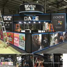 Detian offre expo stands stand d'exposition portable exposition stand 20 par 20