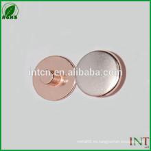 Remaches de alta tecnología partes eléctricas AgCu bimetal
