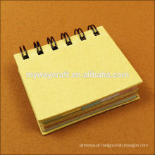 Mini bloco de notas do bloco de notas kraft e conjunto de notas adesivas