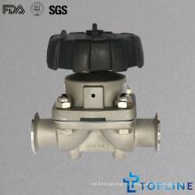 Нержавеющая сталь Санитарный мембранный клапан с зажимами (новый дизайн)