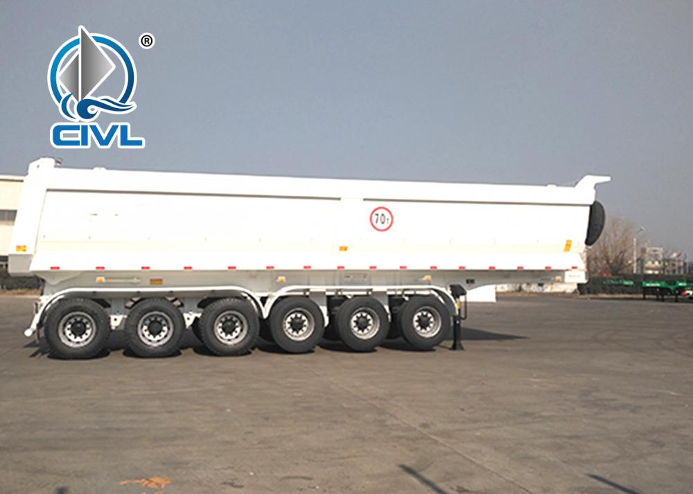 70ton U Shape Tipper Trailer With Six Axle 3