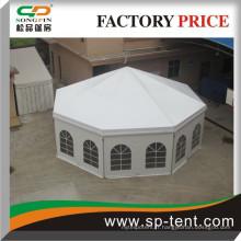 Tente ronde nouvellement conçue avec garnitures pour banquets de mariage