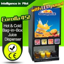 (Com painel de LED) Hot & Cold Bag-in-Box Juice Dispenser-Corolla 4s
