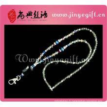 Guangzhou gros Bling mousseux cristal perlé Keychain lanière