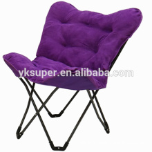 Wholesale lazy armless camp chair/butterfly chair frame