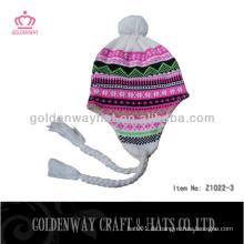 Warme Art und Weise Winterhüte für Dame handgemachte häkeln preiswerte einfache Beanie für Dame nett für Frauen
