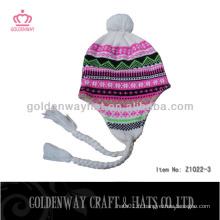 Chaude chaude à la mode chapeaux d'hiver à la main à la main à la main crochet Bonnet simple bon marché pour femme mignonne pour les femmes