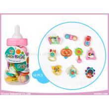 Baby Rattles in Cute Bottle (10PCS)