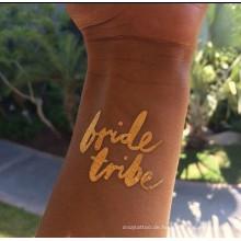 Braut Tattoos, Hochzeit Tattoo Körper Dekoration benutzerdefinierte Design in guter Qualität