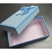 Paper Gift Box with Ribbon Butterfly