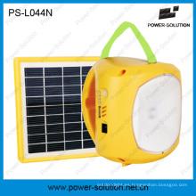 Mini lámpara que acampa solar portable de la batería de litio del panel solar 1.7W con la carga del teléfono