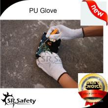 SRSAFETY en388 4131nylon-copper pu ESD safety working gloves