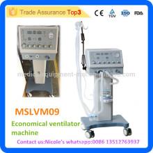 MSLVM09i Prix de la machine à ventilateur économique du chariot médical avec plus de 18L Capacité de ventilation par minute