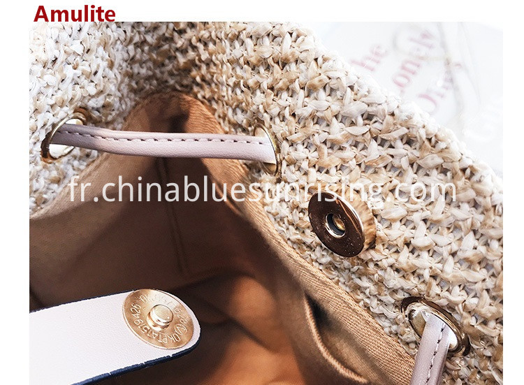 Woven bucket straw bag