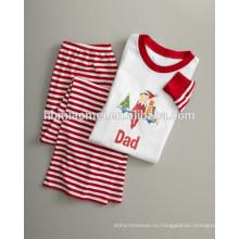 2016 горячая продает красный и белый цвет лишен семейное Рождество пижамы