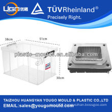 square plastic containing box with a plastic lid injection mould/colorful household storage boxes