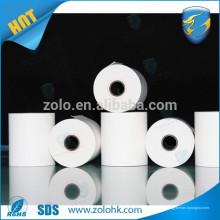 Cajón electrónico de papel barato chermal roll 80gsm papel térmico blanco con número de serie