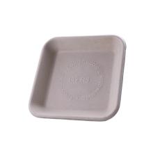 Biodegradable disposable compostable sugarcane bagasse food trays