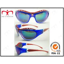 Design especial e brilhante óculos de sol de esportes colorido (lx9850)