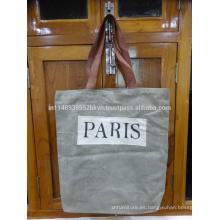 Impresión de París Bolsa Lienzo