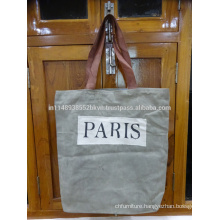 Paris Print Canvas Bag