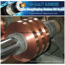 Ruban en feuille de cuivre à épaisseur divers pour câble coaxial