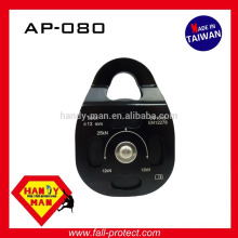 AP080 Outdoor sport Gym Climbing Aluminum mobile side roller bearing single wheel rope 13mm pulley