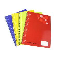 Artigos de papelaria para cadernos espirais de quatro cores para escolas e uso de escritório