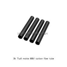 Vollcarbon-Faser-Rohre oder Stangen 3K für kundengebundene Kohlenstoff-Faser Exhanst Rohre