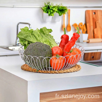 Counter Fruit Basket For Kitchen Countertop Vegetable Storage Holder Metal Wire Modern Standing Fruit Basket