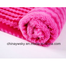 Tissu 100% de polyester / polaire de peluche de picovolte / peluche de PV de Printd / rayures de tigre