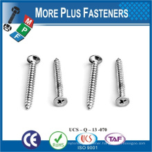 Made In Taiwan Steel Stainless Steel Flat Head POZI Drive Zinc Passivated M10 Self Tapping Bolt