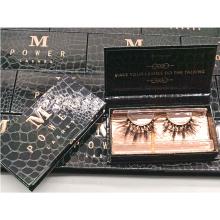 B157 Hitomi  fluffy mink eyelash Black False Eyelash Packaging Box 3d mink eyelashes with custom box