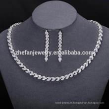 nouvelle mode africaine bijoux ensembles dubai cubique zircone bijoux pour les femmes