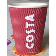 Three-Layer Ripple Design Hot Cup Cool Touch