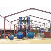 Pirólisis de China 10T / D plástico del neumático de desecho a la planta de aceite