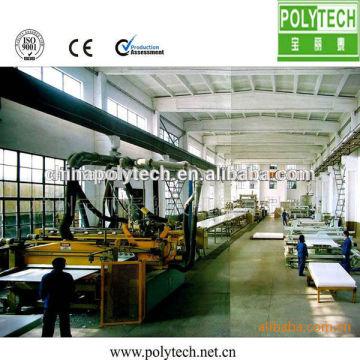 2014 supérieur qualité Construction coffrage ligne de Production/8 ~ 25mm épaisseur PE coffrage de Construction en plastique faisant la Machine