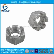 Tuercas gruesas métricas del casco del acero inoxidable de la alta calidad con DIN935