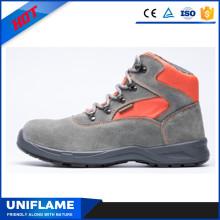 Красочные замша кожа верхних женщин безопасности обувь Ufb027
