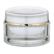 100 мл круглый прозрачный акриловый косметический Jar Оптовая