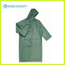 Зеленый PVC PVC полиэфира длинней безопасности дождевик (РПП-044)