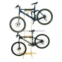 Free Design Simple Wooden Display Floor Standing Custom Cycling Store Wood Fiber Bicycle Display Rack