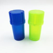 Plastikblatt Kräuter Tabakschleifer Rauch Spice Crusher Hand Muller (ES-GD-020)