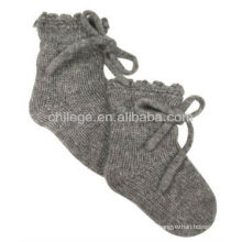 chaussettes tricotées bébé en cachemire